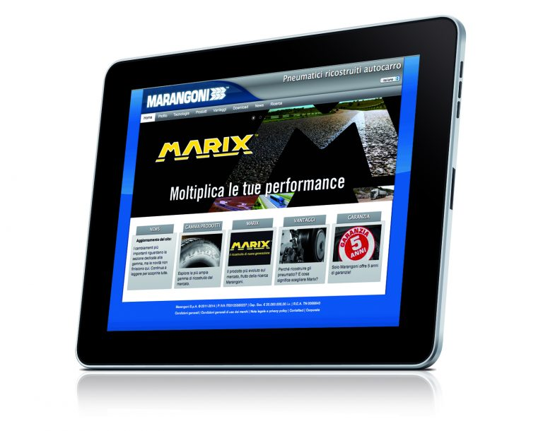Marangoni Commercial Tyres upgrades its website
