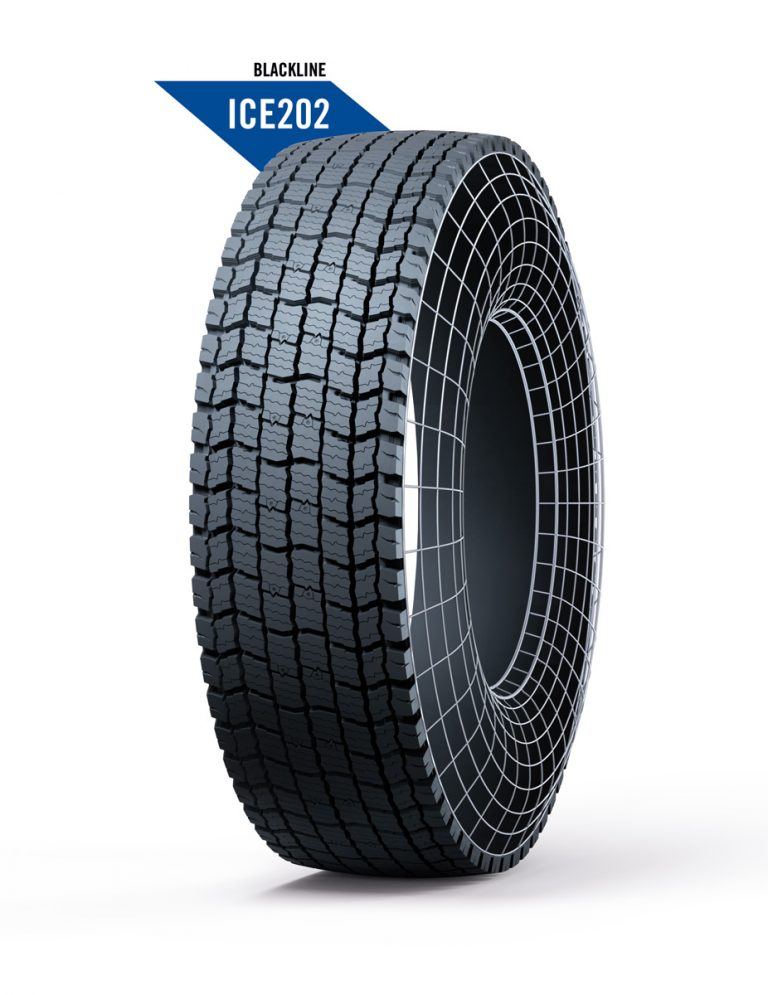 Marangoni presents RINGTREAD Blackline ICE202, a new drive pattern specially designed for use in severe winter conditions